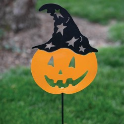 Pumpkin Head Garden Stake