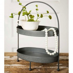 Two Tier Metal Tray