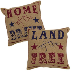 2/Set, Land of the Free Pillows