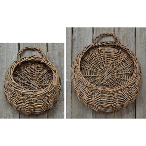 2/Set, Round Willow Wall Baskets