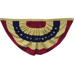 """Aged Flag Bunting, 55"""""""