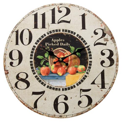 Apples Picked Daily Clock