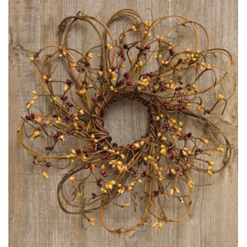 Flower Shaped Pip Wreath, 12""