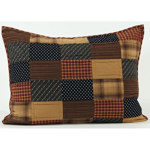 Patriotic Patch Quilted Sham