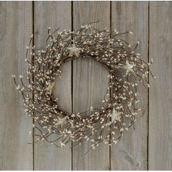 Platinum Pip Wreath w/Stars