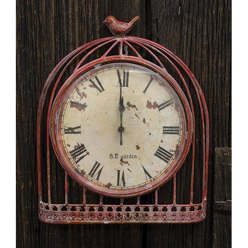 Red Bird Vintage Clock