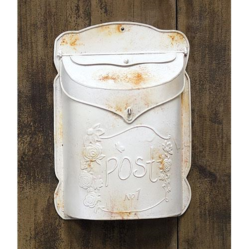 Rustic White Post Box
