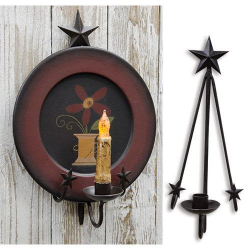 Star Hanging Plate & Taper Holder