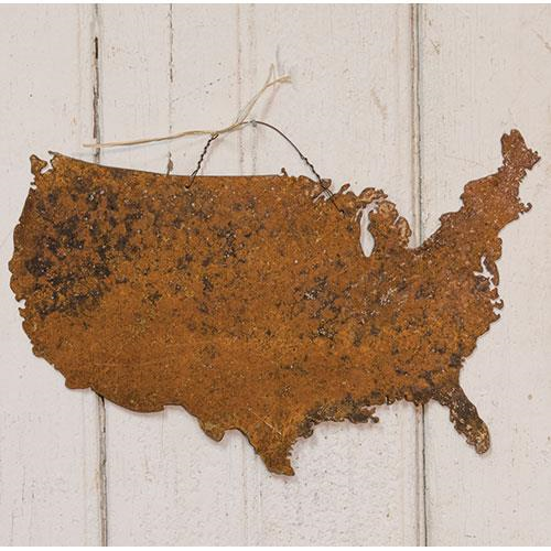 USA Map Metal Wall Hanging
