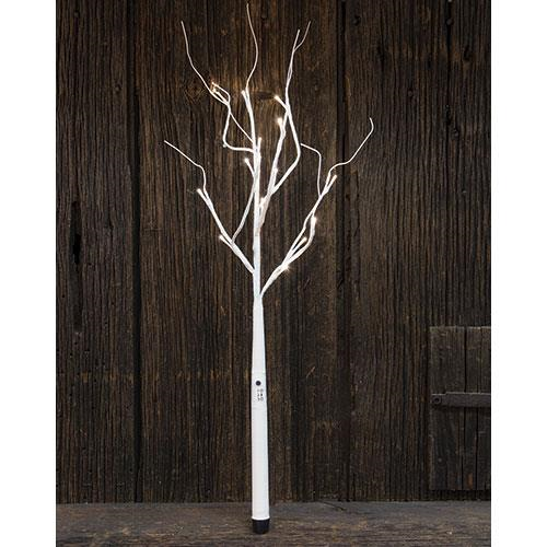 White Wrapped Branch, 27""