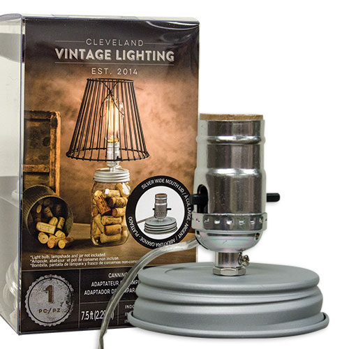 Wide Canning Jar Lamp Adapter